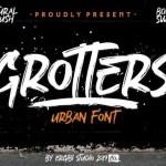 Grotters Brush Font Free