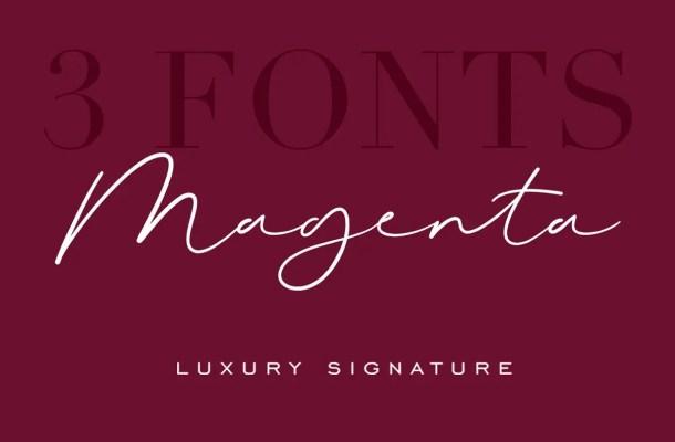 Magenta Signature Font Free