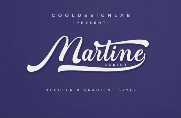 Martine Script Font Free