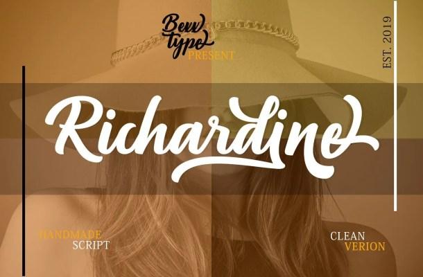 Richardine Script Font Free
