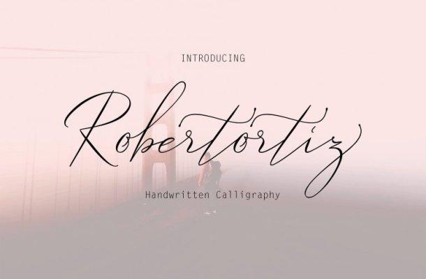 Robertortiz Signature Font Free