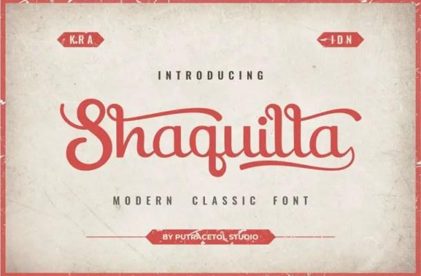 Shaquilla Script Font Free