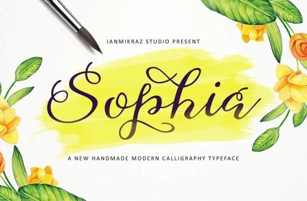Sophia Script Font Free