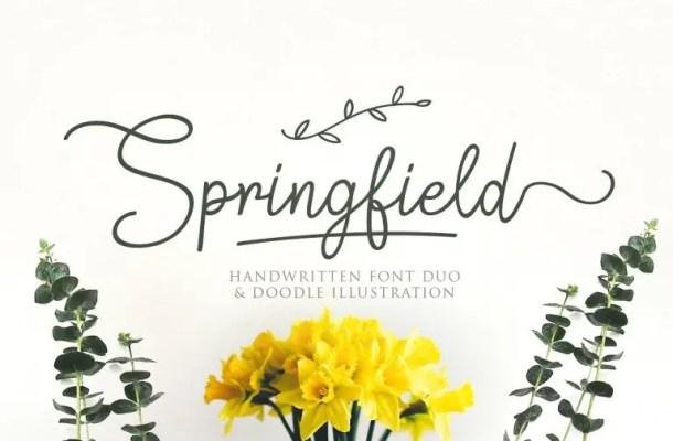 Springfield Script Font Free