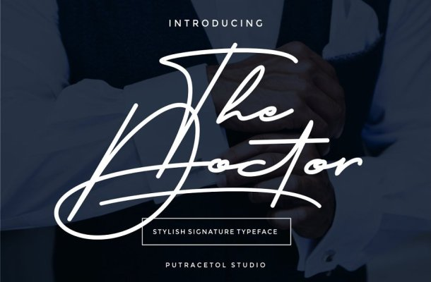The Doctor Signature Font Free
