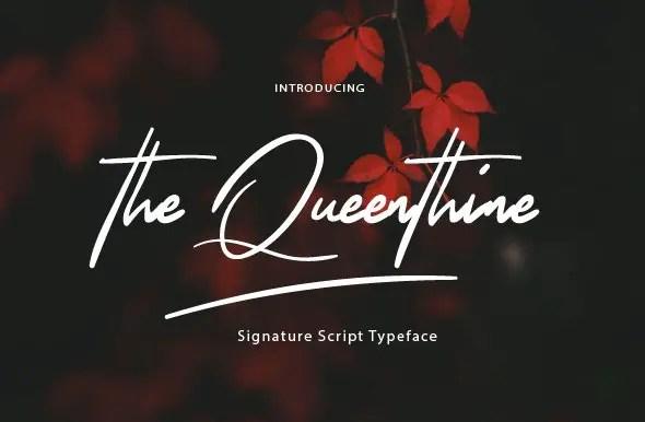 The Queenthine Signature Font