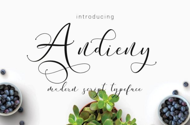 Andieny Script Font Free