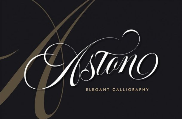 Aston Calligraphy Font Free