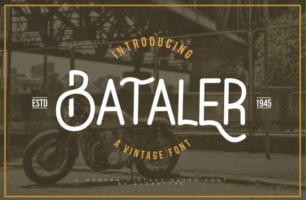 Bataler Typeface Free