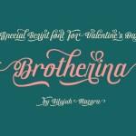 Brotherina Script Font Free
