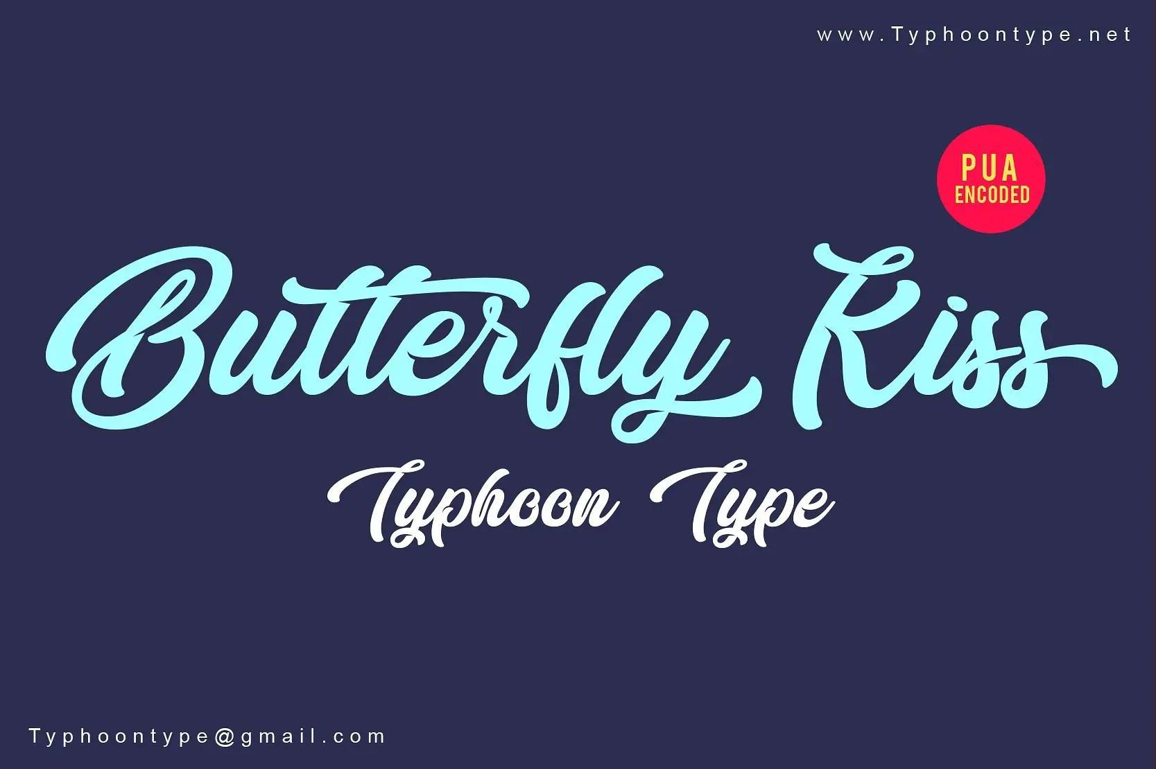 butterfly-kiss-font
