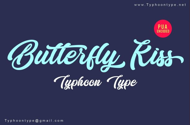 Butterfly Kiss Font Free