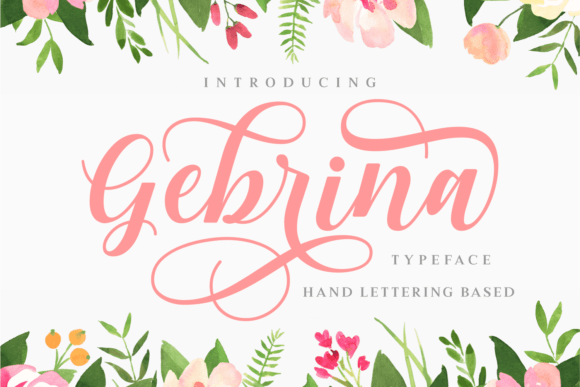 Gebrina Script Font Free