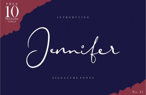Jennifer Signature Font Free
