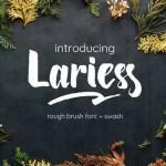 Lariess Brush Font Free