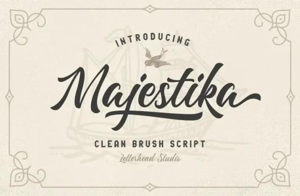 Majestika Brush Script Font