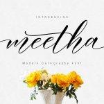 Meetha Script Font Free