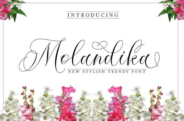 Molandika Calligraphy Font Free