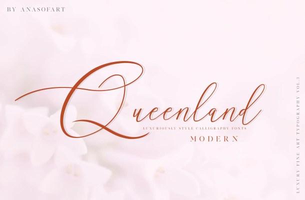 Queenland Script Font Free