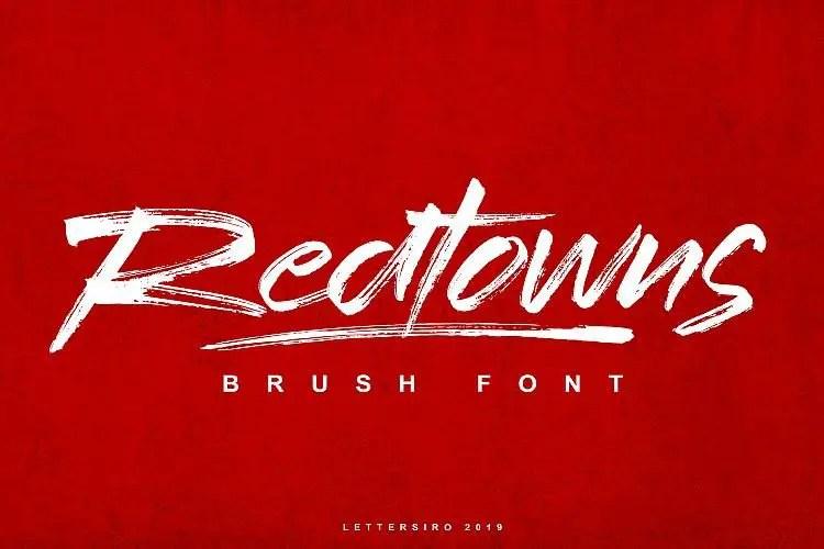 redtowns-brush-font