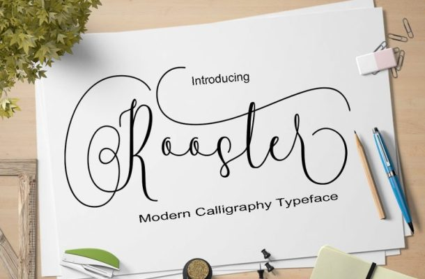 Rooster Script Font Free