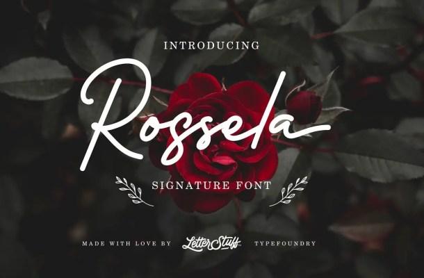Rossela Signature Font Free