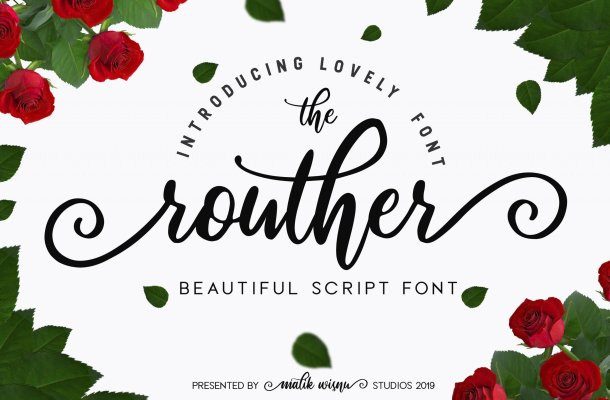 Routher Script Font Free