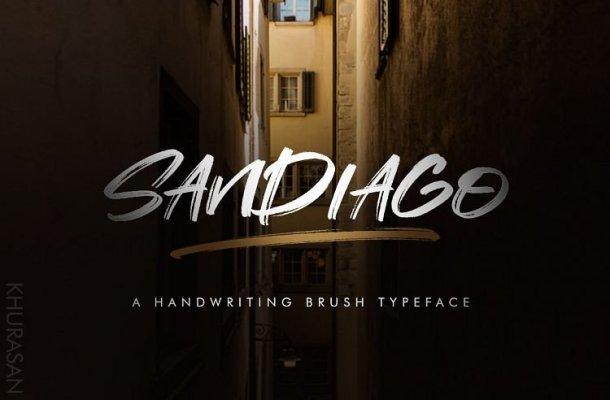 Sandiago Brush Font Free