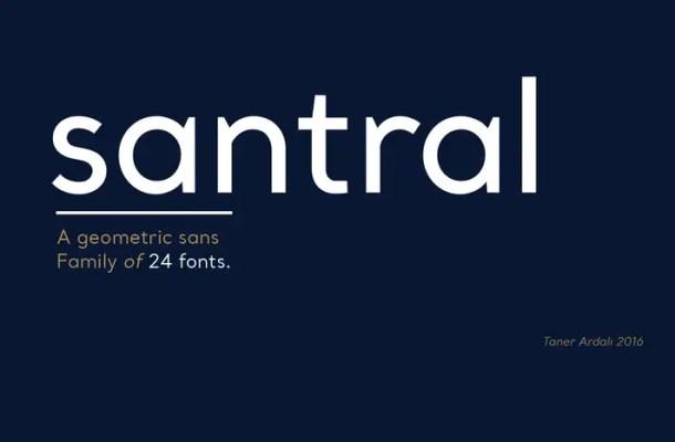 Santral Font Family Free