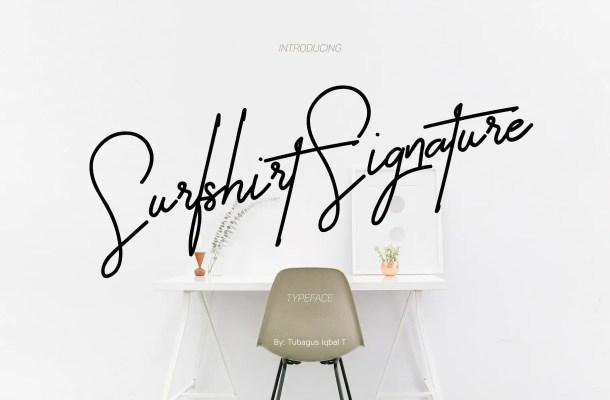 Surfshirt Signature Font Free