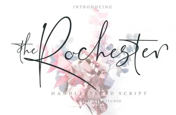the Rochester Signature Font