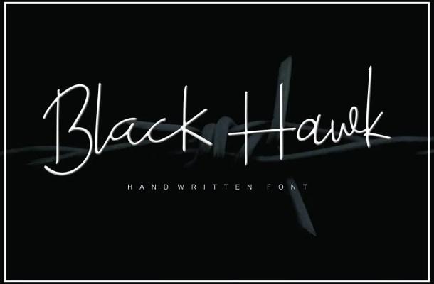 Black Hawk Script Font