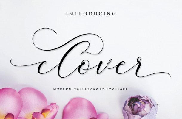 Clover Calligraphy Font Free