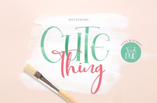 Cute Thing Font Duo Free
