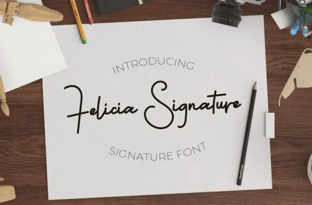 Felicia Signature Font Free
