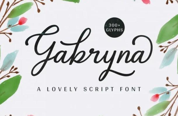 Gabryna Script Font Free