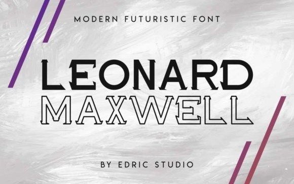 Maxwell Leonard Display Font