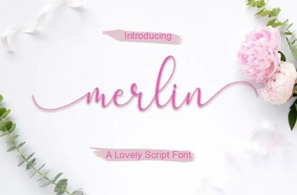 Merlin Script Font Free