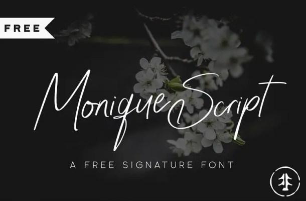 Monique Script Font Free