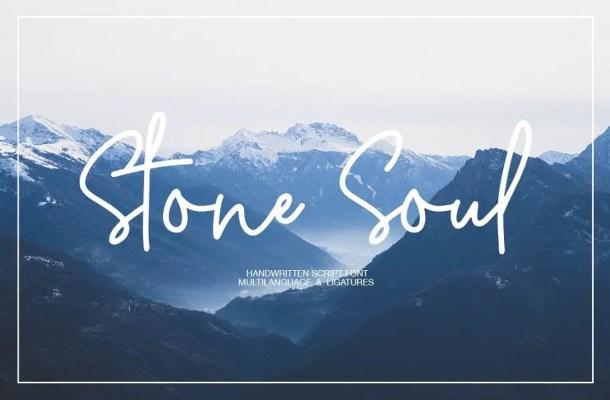 Stone Soul Handwritten Font