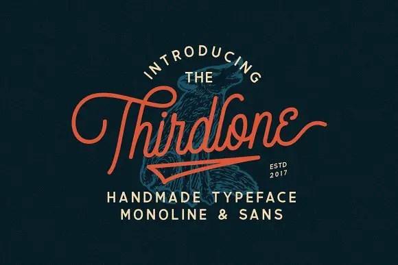 Thirdlone Font Duo Free
