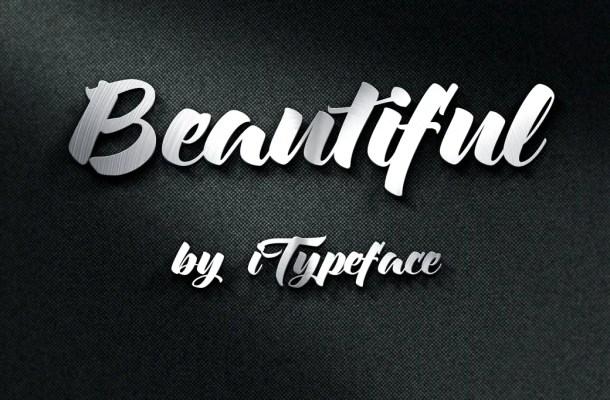 Beautiful Brush Font