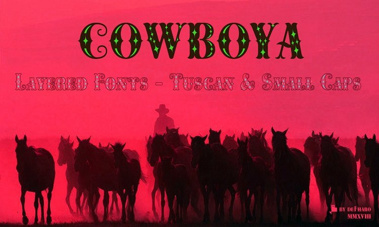 Cowboya-layered-tuscan-serif-horses