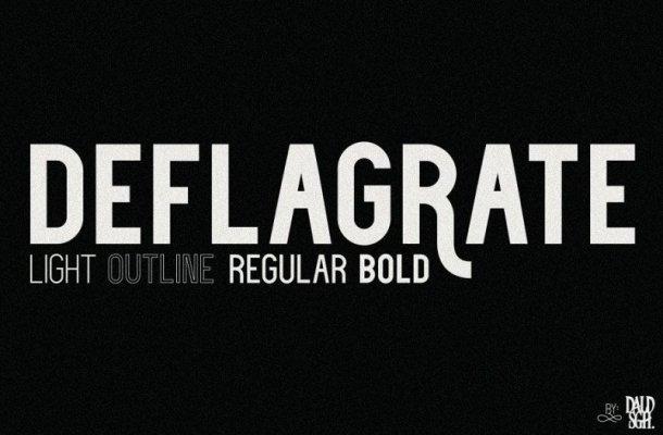 Deflagrate Font Family Free