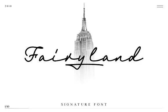 Fairyland Signature Font Free