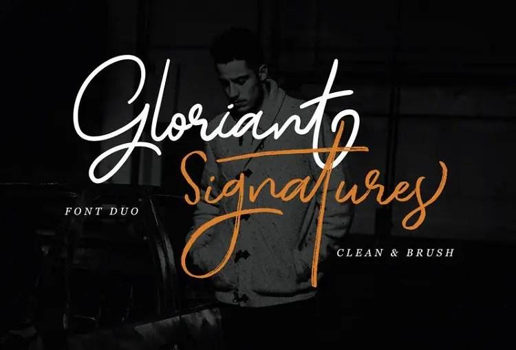 gloriant-signature-script-font