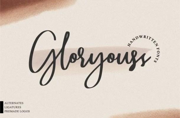 Gloryouss Script Font Free