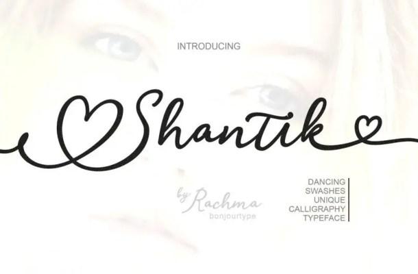 Shantik Script Font Free