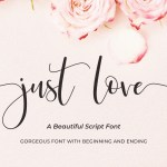 Just Love Calligraphy Script Font