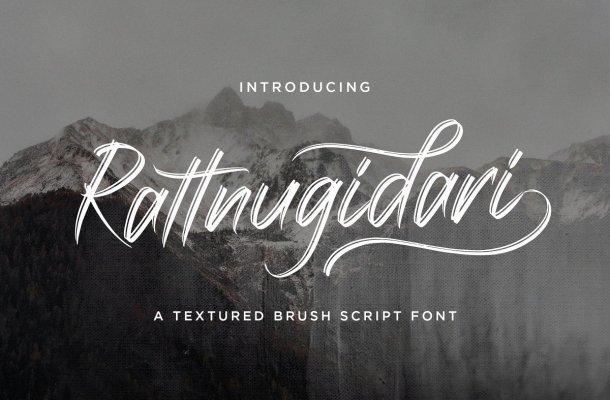Rattnugidari Brush Font